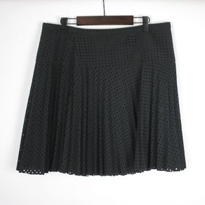J.CREW Black Laser-Cut Skirt Size 8